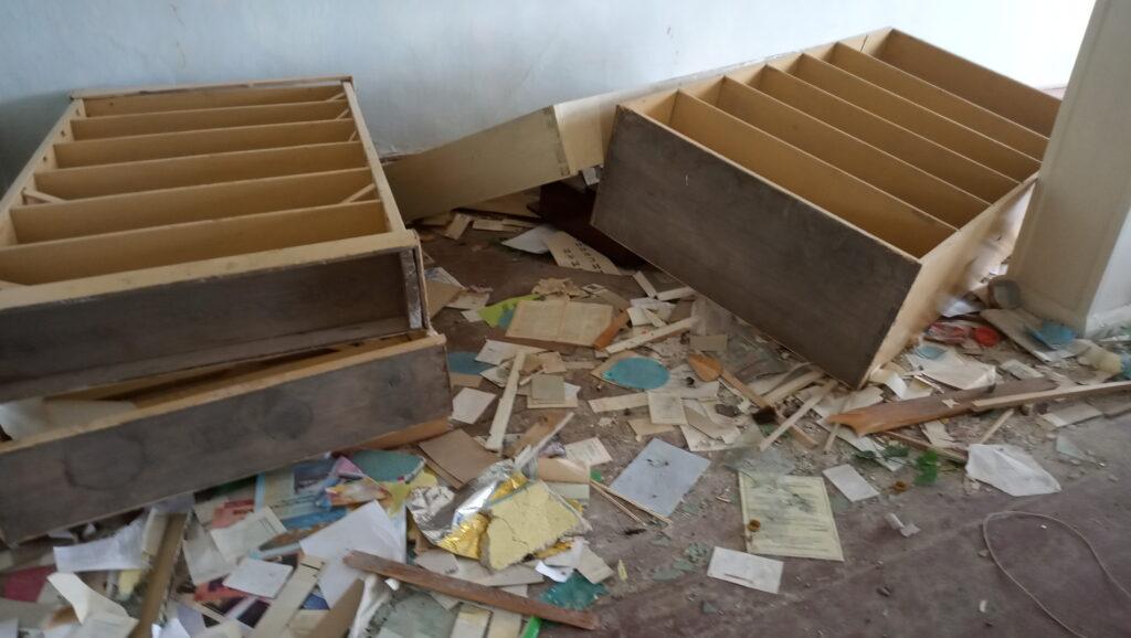 Уничтоженная детская библиотека дома культуры в Екатеринбурге